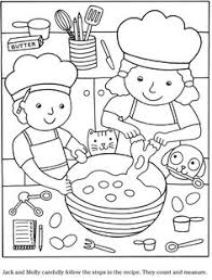 colouring in page sample page from u0027color u0026 cook story coloring