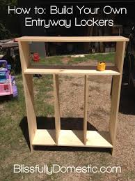 diy kids lockers can we make one of these with bins for their