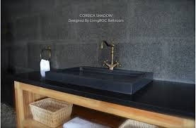 black stone bathroom sink 27 black granite stone single trough bathroom sink corsica shadow
