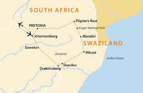 Pretoria South Africa Map by Bushveld U0026 Battlefields South Africa Jules Verne