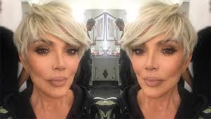 kris jenner haircut side view kris jenner s blonde pixie see her hair makeover for 2018