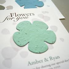 plantable wedding favors classic flower plantable seed paper favor ecopartytime