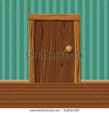 old home interior pictures cartoon wooden old door home interior stock vector 512654320