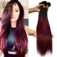 Black To Brown Ombre Hair Extensions by Black Rose Hair Ombre Straight Virgin Hair 4pcs 1b Burgundy