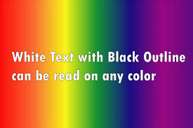 Colors Meme - what font colors are good for video titles and image captions
