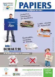 recyclage papier de bureau communauté d agglomération agglopole provence collecte en point