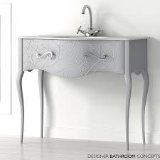 Bathroom Sink And Vanity Unit by Fiora Vivaldi Designer Freestanding Flores Silver Vanity Unit