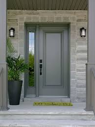 Steel Exterior Entry Doors Single Front Door With One Sidelight Images Front Doors