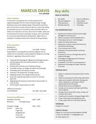 Best Resume For Civil Engineer Fresher by Civil Engineering Cv Template Structural Engineer Highway Design