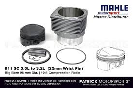 porsche 911 sc engine for sale piston and cylinder set 911 sc 3 0 cis to 3 2 liter mahle