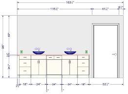hauteur comptoir cuisine stunning hauteur standard vanite salle de bain pictures design