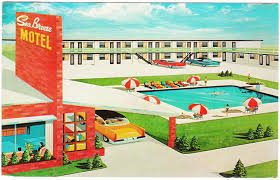 saturday u0027s postcards 1950s motels in florida and new jersey