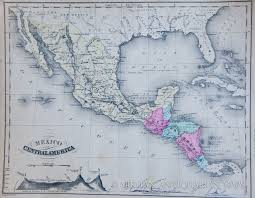 Map Of Mexico by Map Of Mexico And Central America 1876