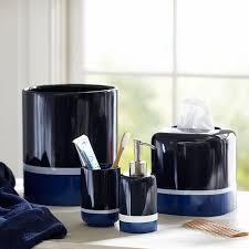 Blue Glass Bathroom Accessories Color Block Bath Accessories Pbteen