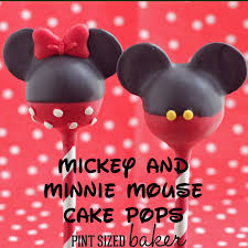 mickey minnie mouse cake pops pint sized baker