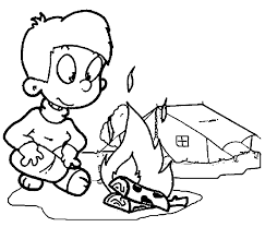 coloring page camping coloring home