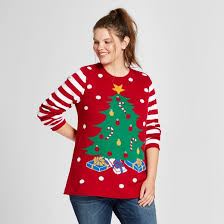 women u0027s plus size light up tree pullover sweater ugly christmas