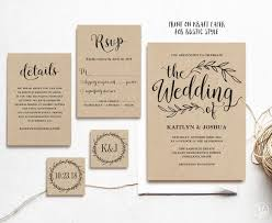 printable wedding invitations vintage wedding invitation printable wedding invitations kraft