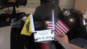 Flag Post Holder How To Make Inexpensive Motorcycle Flag Poles Youtube