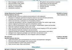 download human resource administration sample resume