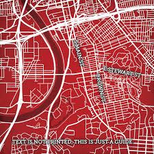 Boston University Campus Map University Of Dayton Campus Map Art City Prints