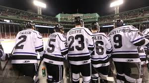 bentley university bentley university hockey at frozen fenway december 28 2013 youtube