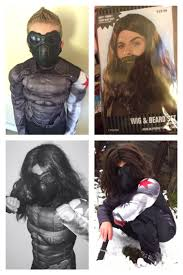 the halloween city my son canaan as the asset bucky barnes winter soldier from