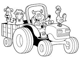 tractor coloring pages vladimirnews me