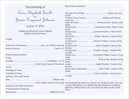 sle wedding program template best 25 wedding bulletins ideas on wedding