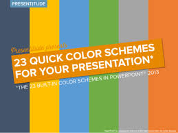 Powerpoint Design Colors | 23 color themes ready to use in powerpoint 2013 presentitude