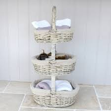 bathroom interesting weathered metal bathroom sotrage basket