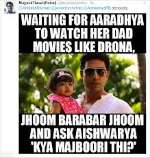 Funny Daughter Memes - abhishek bachchan gives it back to twitter user for bringing