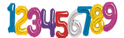 large birthday numbers balloons delivered helium filled number