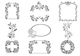 floral frame and bird ornament vector pack free vector