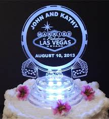 acrylic cake toppers las vegas lighted wedding cake topper acrylic laser engraved