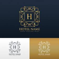 elegant ornamental logo with letter h vector free download