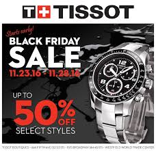 watches black friday half off savings on select tissot watches from black friday