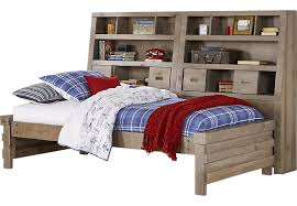 montana driftwood 6 pc full bookcase daybed beds light wood