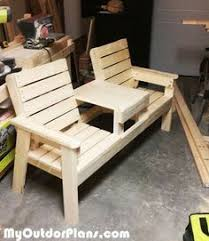 double chair bench with table plans free outdoor plans diy