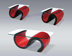 red and black coffee table contemporary red and black leather set of coffee table two end