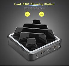 hawk s400 36w power 3 usb ports type c charging station eu plug