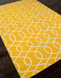 Modern Yellow Rug Yellow And White Area Rug Visionexchange Co
