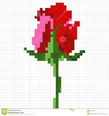 10 best images of minecraft flower pixel art templates minecraft
