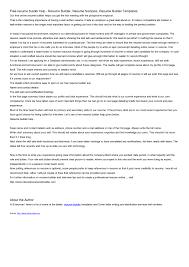 free resume builders free resume builder pdf resume for study