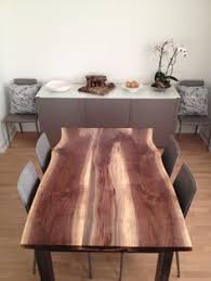Unfinished Dining Room Tables What A Gorgeous Piece Of Wood Turned Into Great Dining Room Table