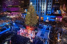 when does the christmas tree go up in rockefeller center