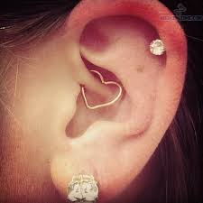 heart cartilage lobe cartilage and daith heart piercing on we heart it