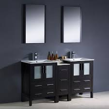 shop fresca bari espresso undermount double sink bathroom vanity