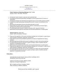 Resume Sample Resume Marketing Manager by Casino Marketing Manager Sample Resume Click Here To Download