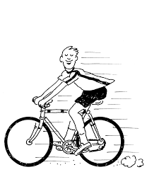 free bicycle coloring page for kids transportation coloring